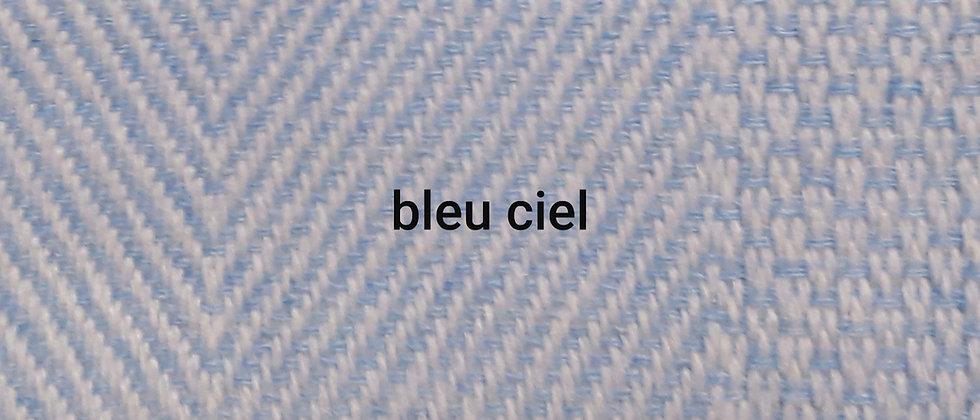 Plaid bleu ciel