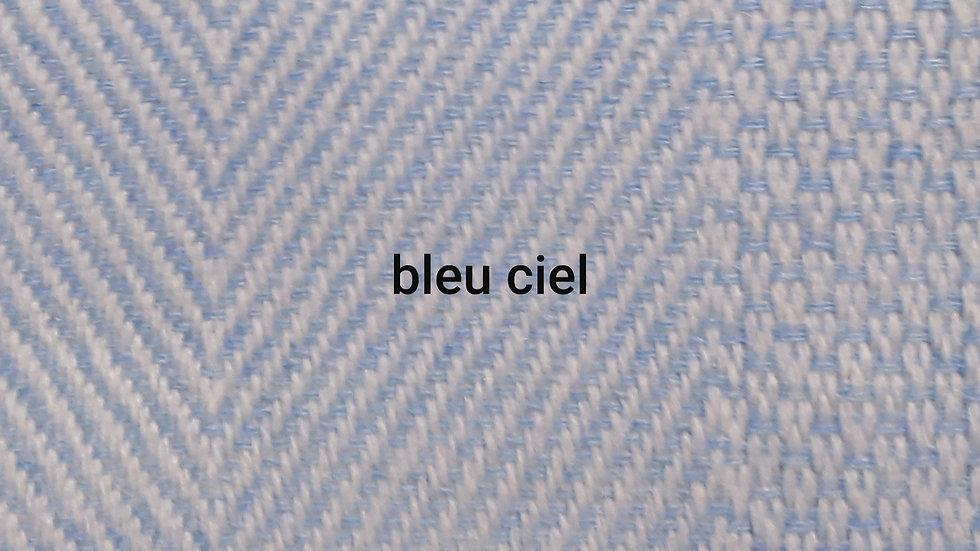 Plaid bleu ciel 130x250 CM
