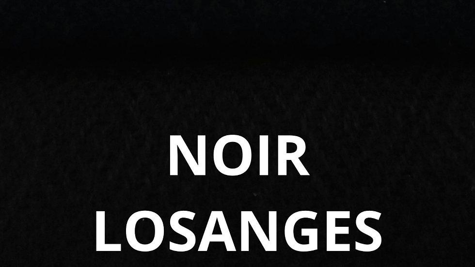 Plaid noir losange 130x250 CM