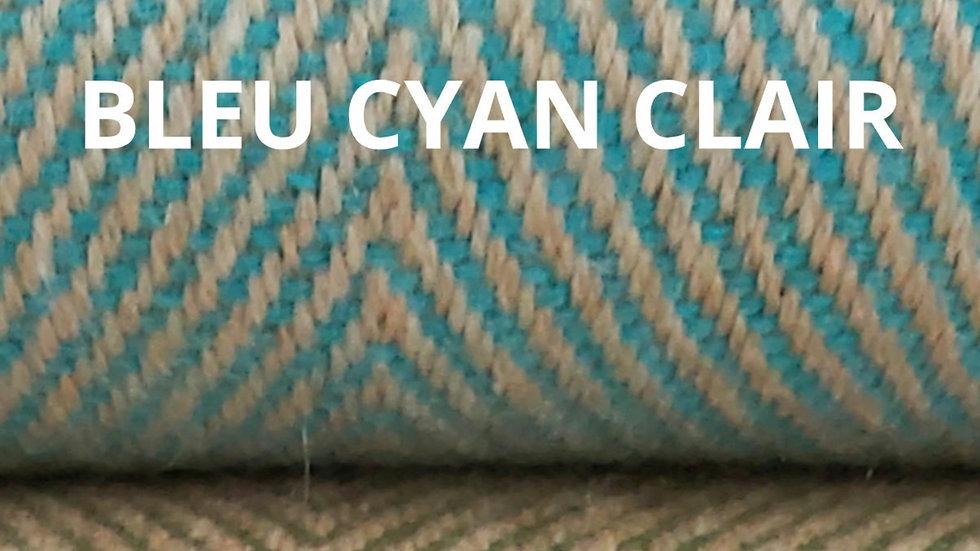 Plaid bleu cyan clair 130x250 CM