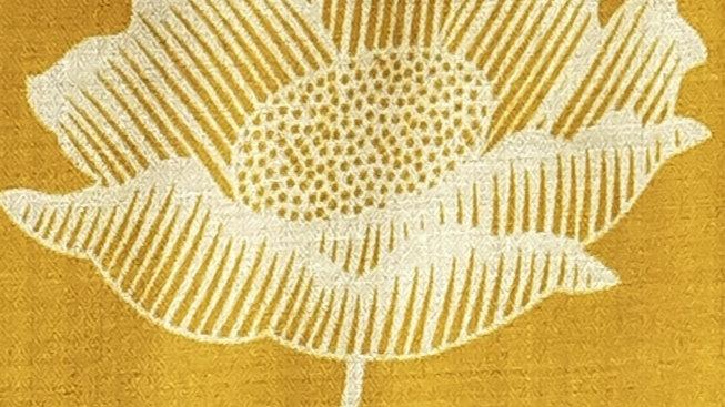 Moutarde à imprimés lotus 90x200 CM