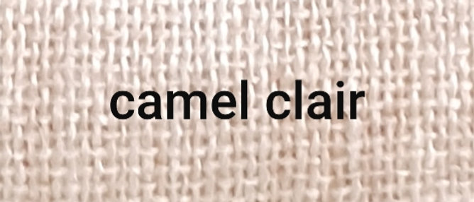 Étole camel chiné blanc XL