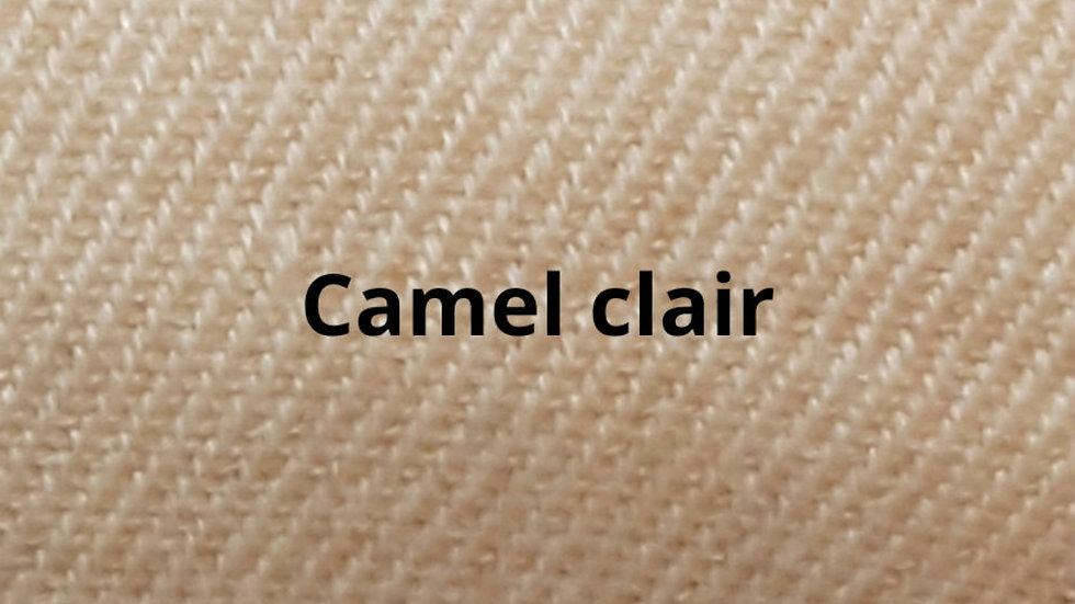 Couvre lit  Camel clair à chevrons 230x250 cm