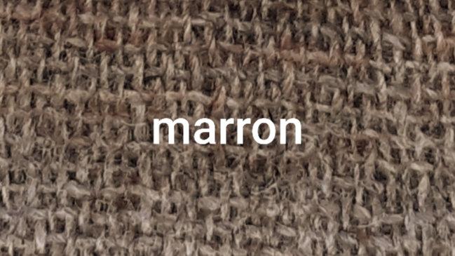 Marron chiné gris 90x200 CM