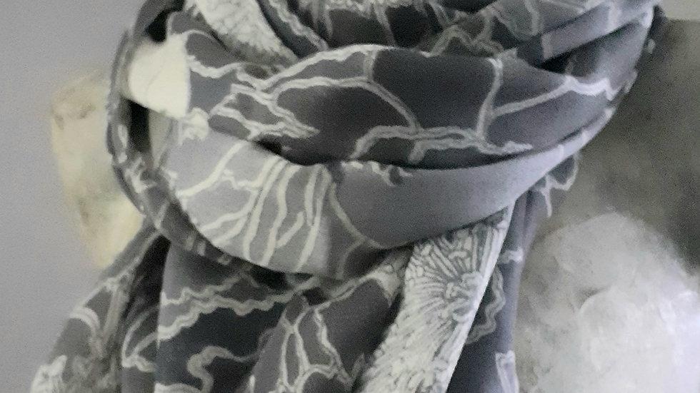 Grands coquelicots gris 90x200 CM