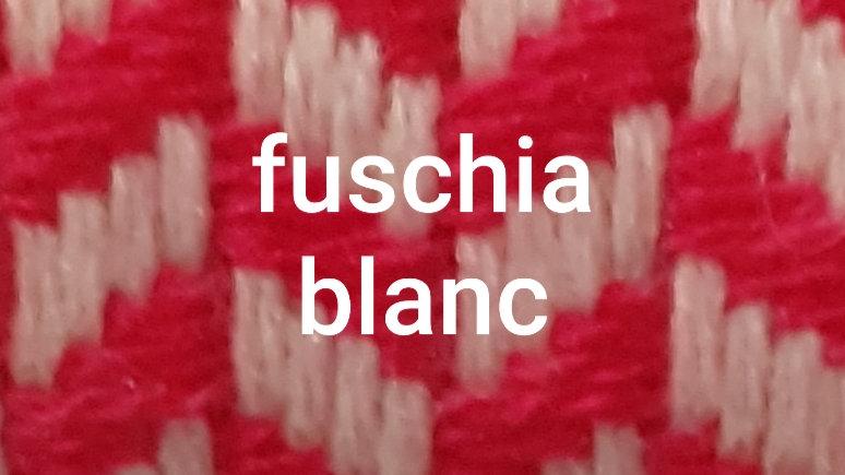 Plaid gros à gros chevrons rose fuschia 130x250 CM