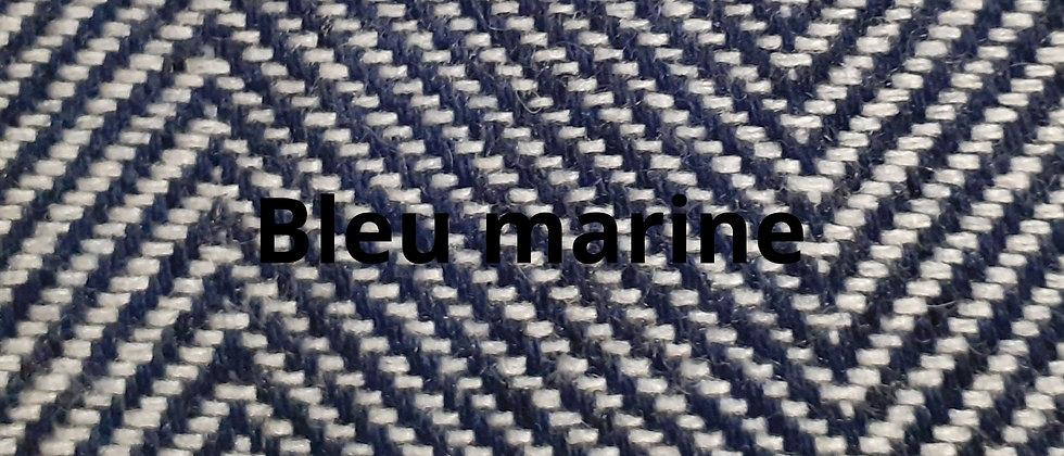 Plaid bleu marine à chevrons