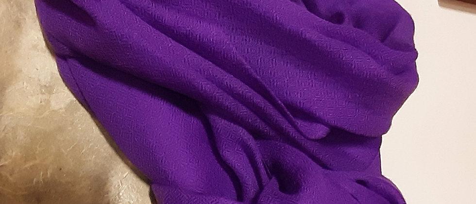 Étole étamine violet