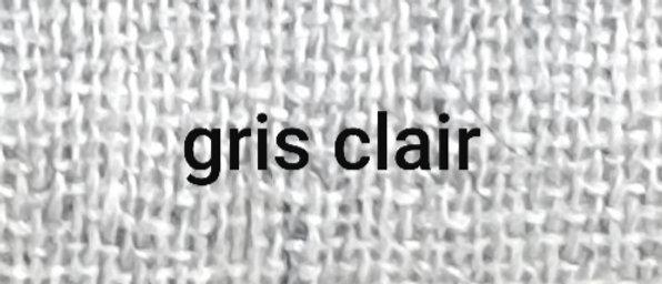 Étole grise claire chiné blanc XL