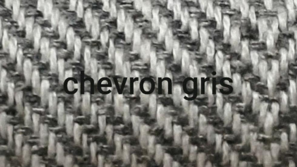 Plaid à chevrons gris 130x250 CM
