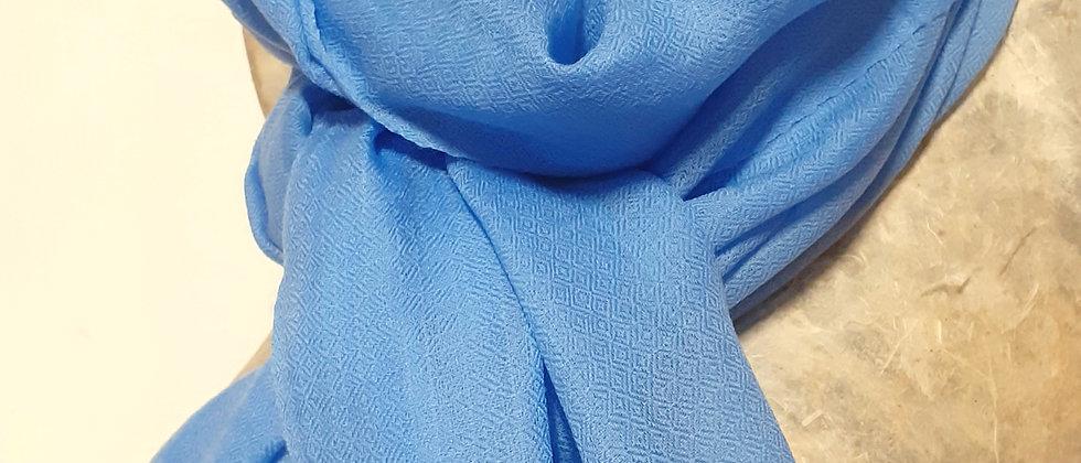 Étole étamine bleu