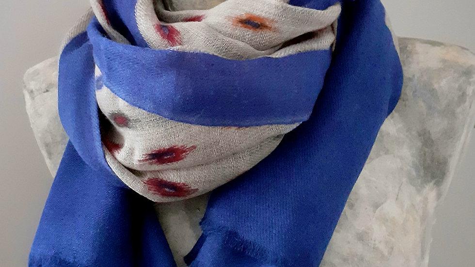 Bleu électrique au tissage coloré 90x200 CM
