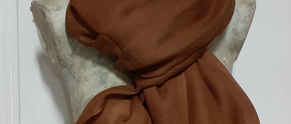 Étole étamine marron