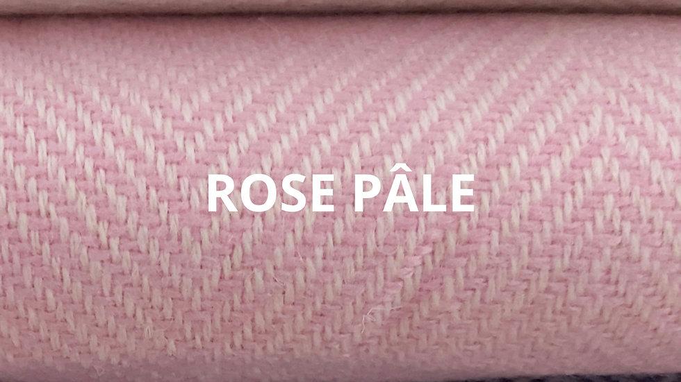 Plaid rose pâle 130x250 CM