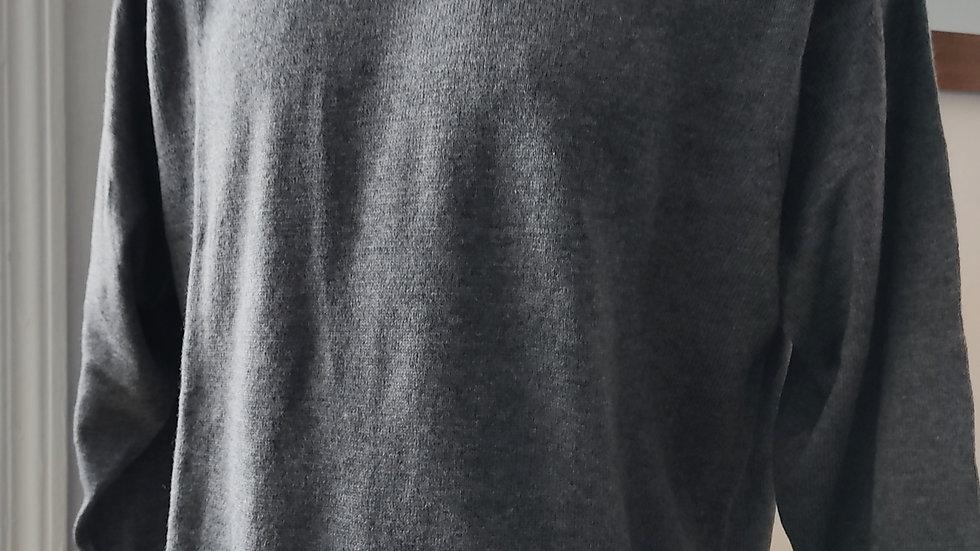 Pull gris unisexe