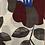Thumbnail: Fleurs grises et rouges INDE XL