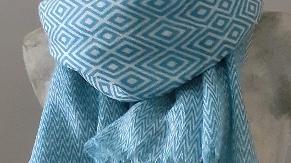 Turquoise à imprimé géométrique 90x200 CM