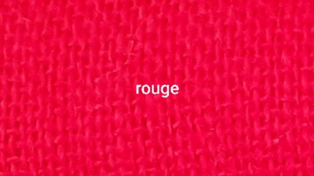 Rouge uni 90x200 CM