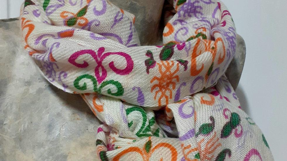 Imprimés orange violet 90x200 CM