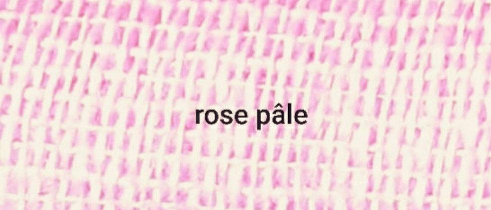 Étole rose pâle uni