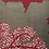Thumbnail: Feuille taupe rouge INDE XL