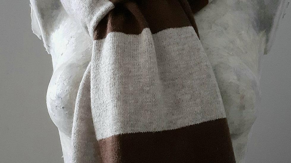 Tricotée marron taupe 90x200 CM
