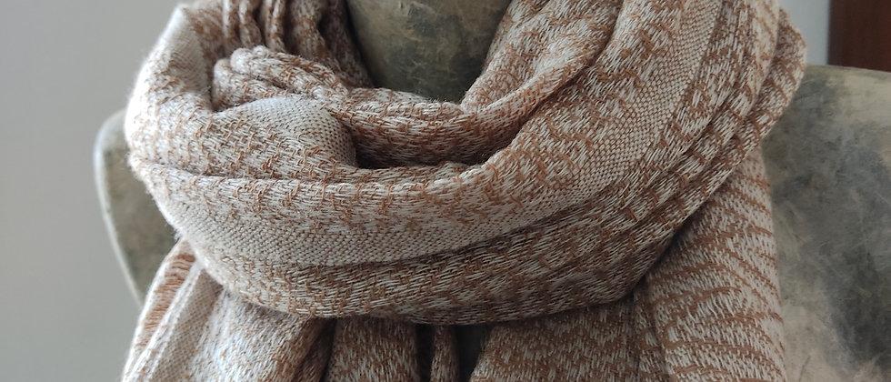 Étole camel texturé