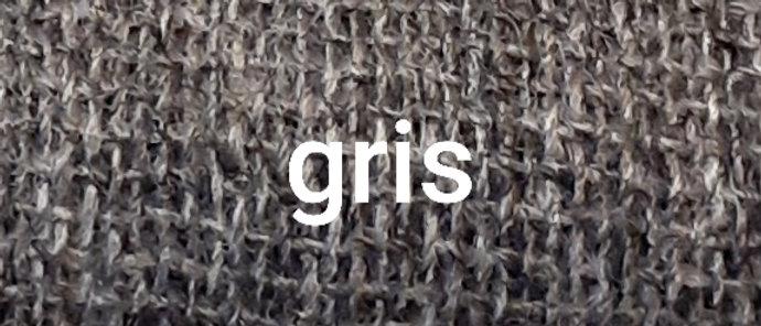 Étole grise chinée