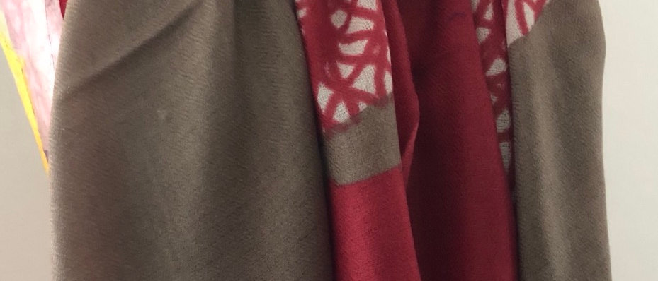 Feuille taupe rouge INDE XL