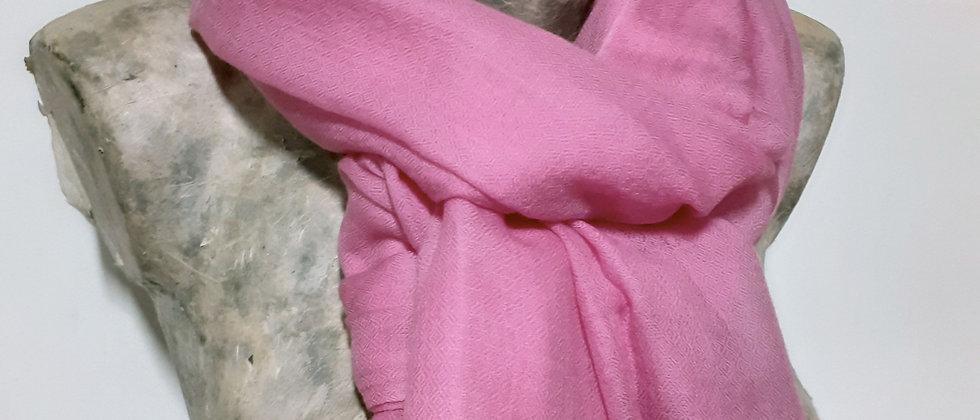 Étole étamine rose pâle