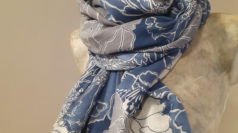 Grands coquelicot bleus 90x200 CM