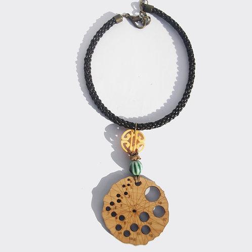 Lotus Pod Knitting Gauge Necklace