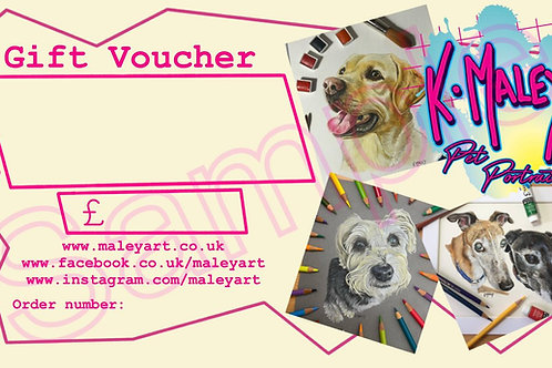 Gift Voucher - Custom Pet Portrait