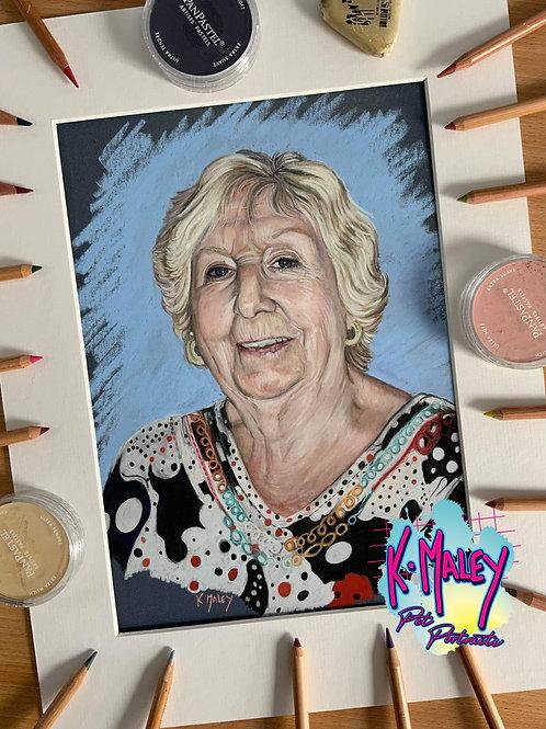 A4 Human Pastel Portrait