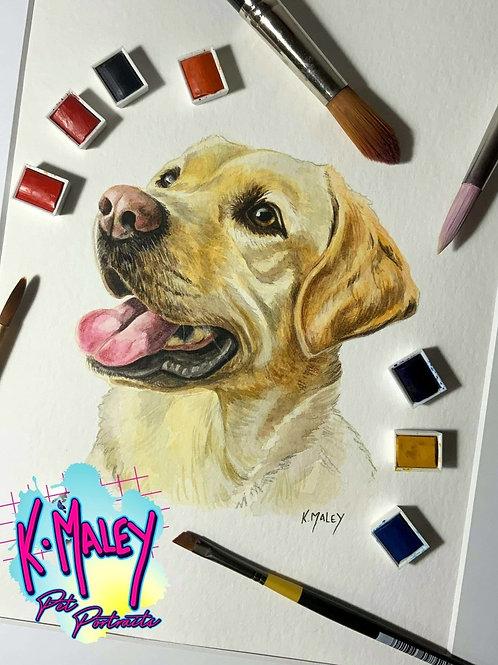 A5 Custom Watercolour Pet Portrait