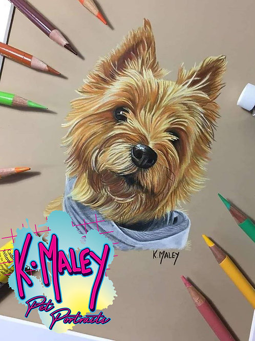 A5 Custom Mixed Media Pet Portrait