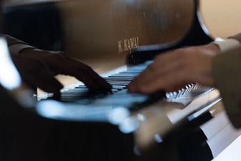 David Lohman playing piano
