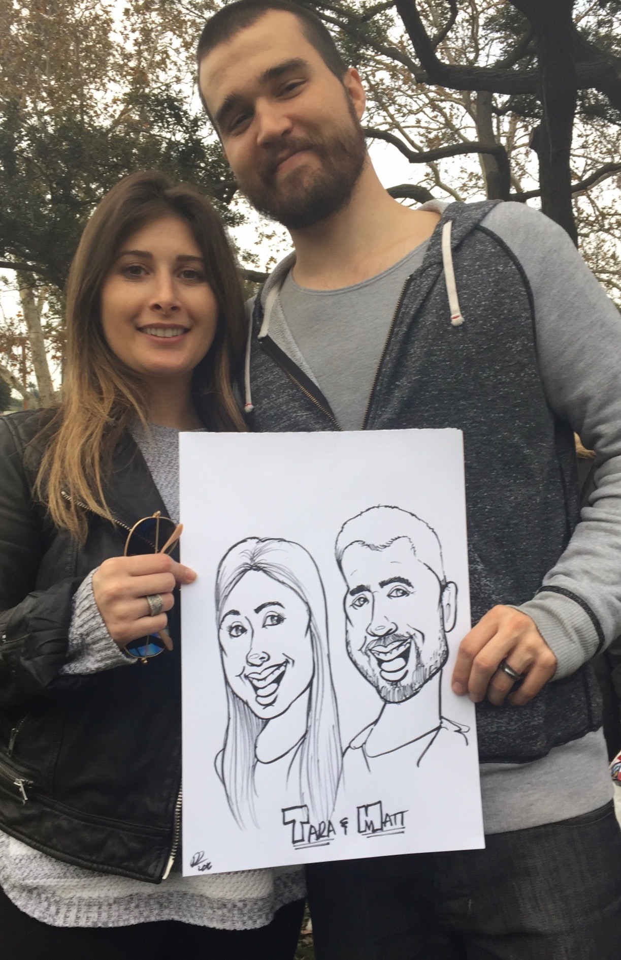Caricature - Tara & Matt