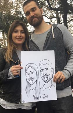 Caricature - Tara & Matt