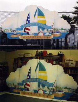 Sailing's a Breeze (center piece)