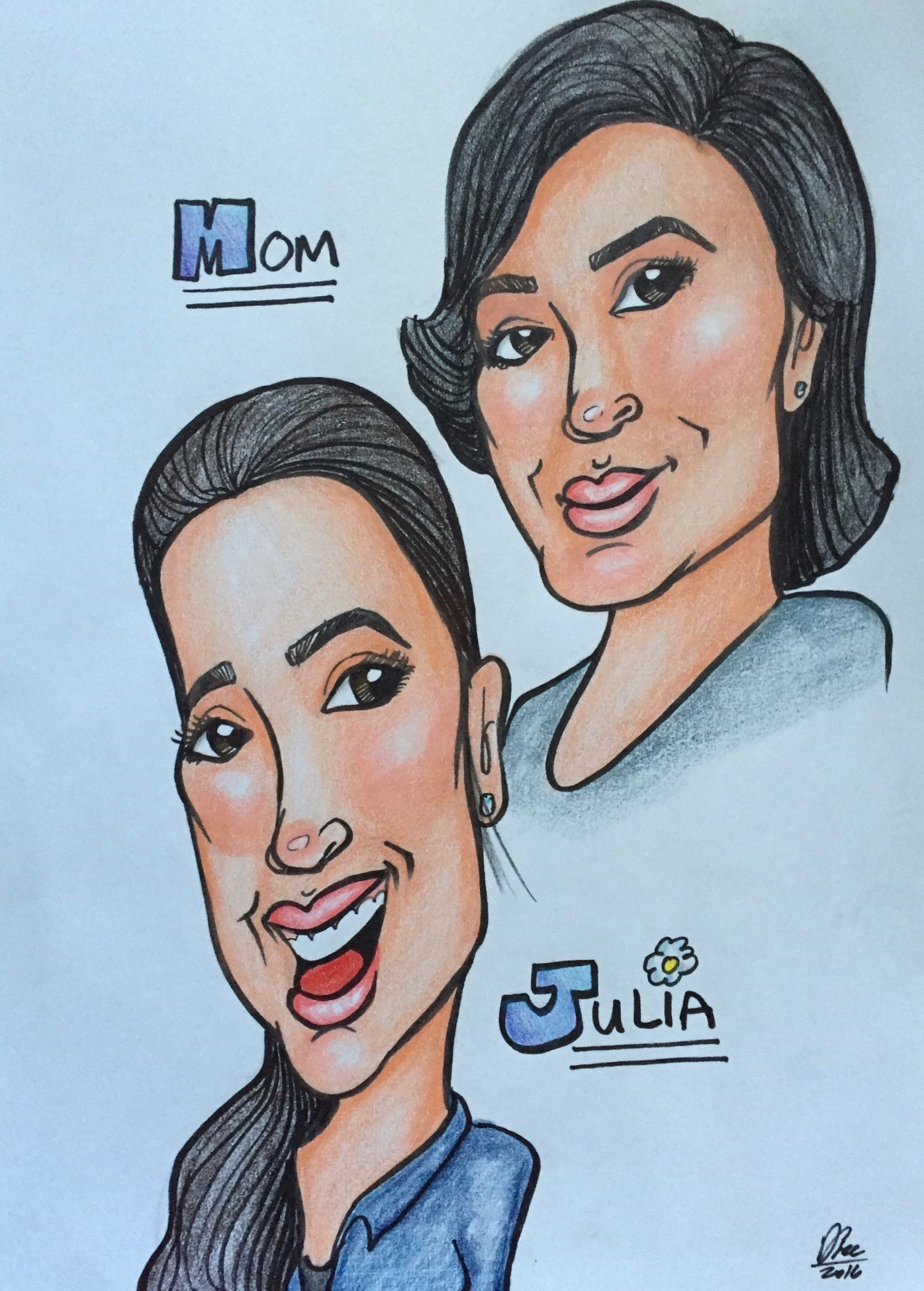 Caricature - Alis & Julia