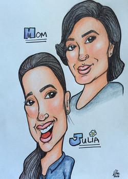 Caricature - Alis & Julia
