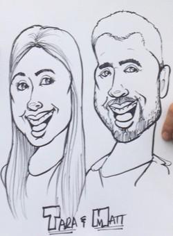 Caricature - Tara & Matt (close-up)