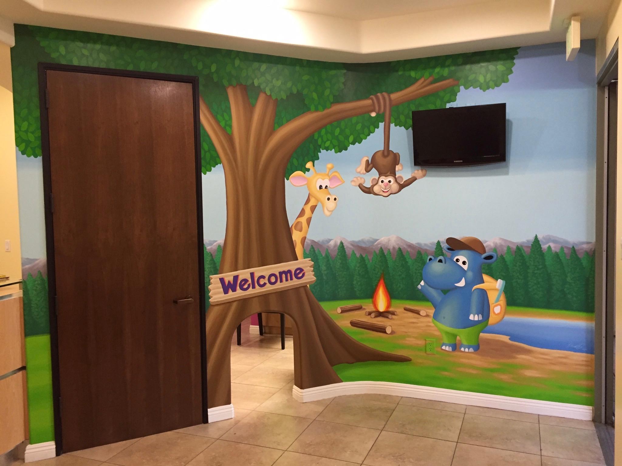 Mural - Children's Dental Camp (lobby)