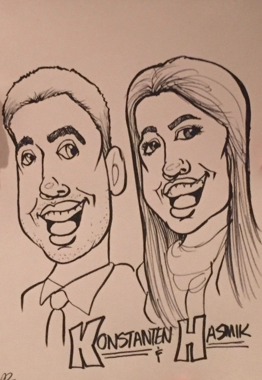 Caricature - Konstanten & Hasmik (close-