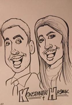 Caricature - Konstanten & Hasmik (close-