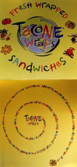 Tacone Wraps Lettering Logo