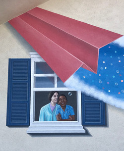 Mural - One Paper Plane's Trajectory (le