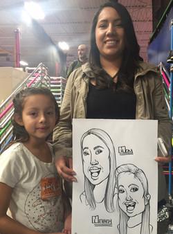 Caricature - Nevaeh & Mom