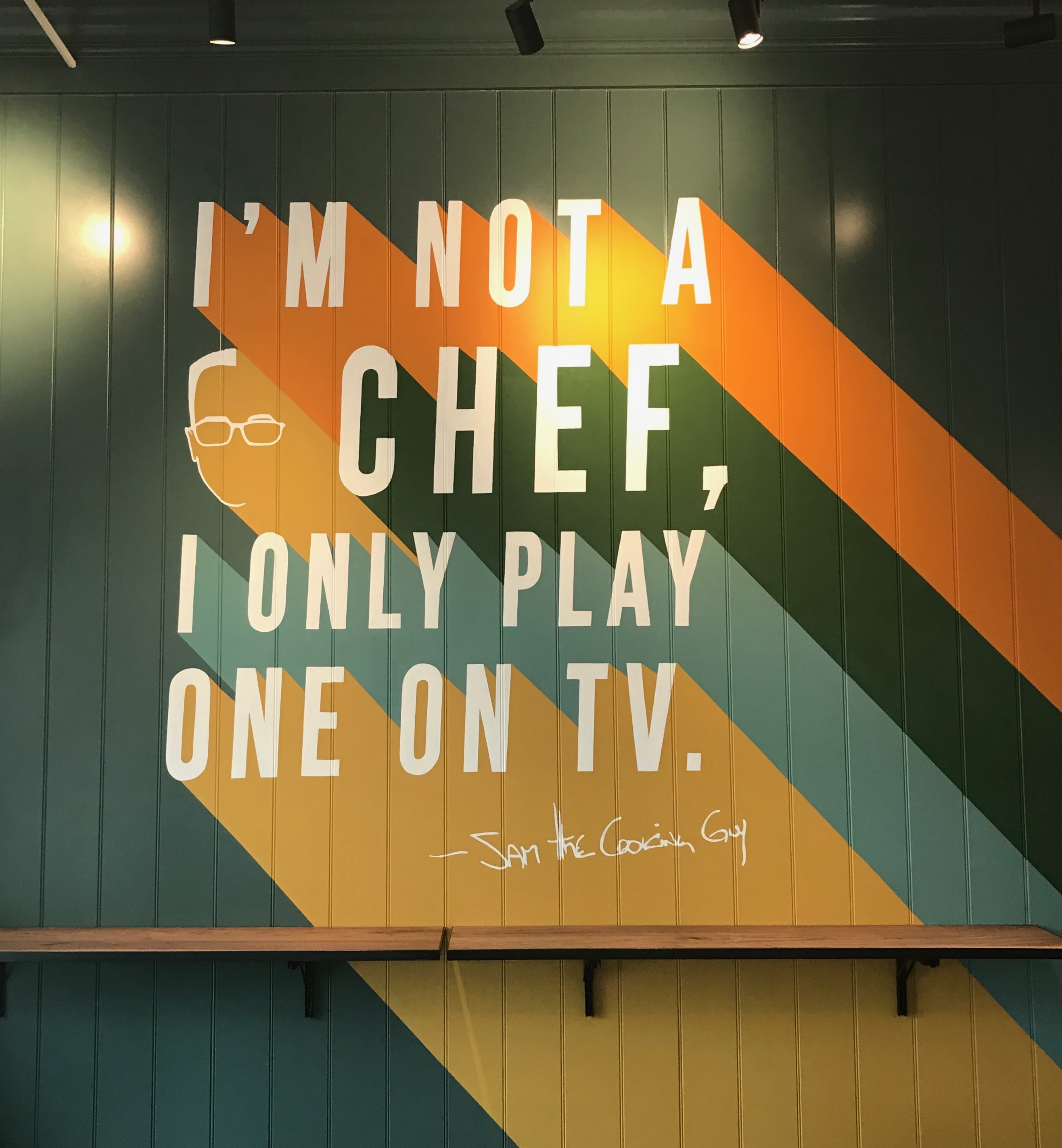 Mural - Sam the Cooking Guy #2